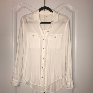 Hollister White Casual Button Down